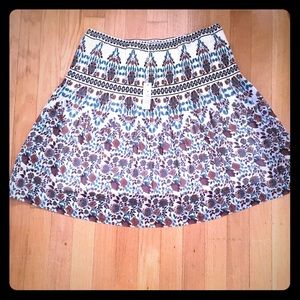 NEW Max Studio pleated floral skirt